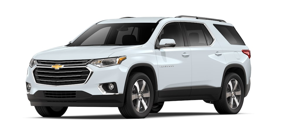 Chevrolet Traverse 2021 SUV para 8 pasajeros en color blanco